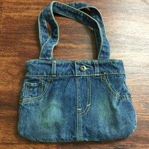 LEVI'S Girl's Denim Snap Close Blue Handbag Purse
